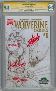 Wolverine Origins #1 Wizard World Variant CGC 9.8 Signature Series Signed x4 Stan Lee Trimpe Wein